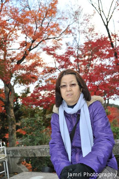 Ritsuko at Kiyomizu Temple.