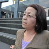 Ritsuko on the Steps of Kyoto Station.
