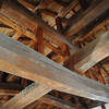 Wooden Beams.<br /> Supporting the roof of Matsuyama Castle.