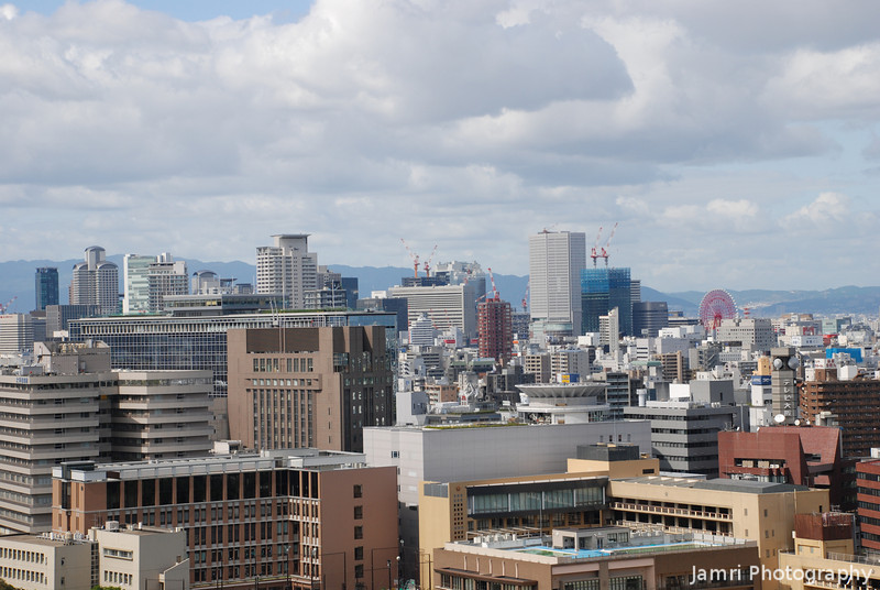 Towards Umeda.<br /> From the top of Osaka Castle.