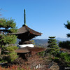 Temple with a view<br /> At Jojakko-ji (a Buddhist temple) in Arashiyama, Kyoto
