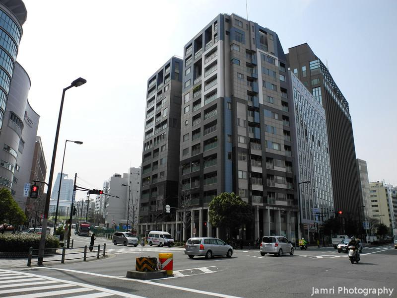 Building on the Corner.<br /> Near Temmabashi Station in Osaka.