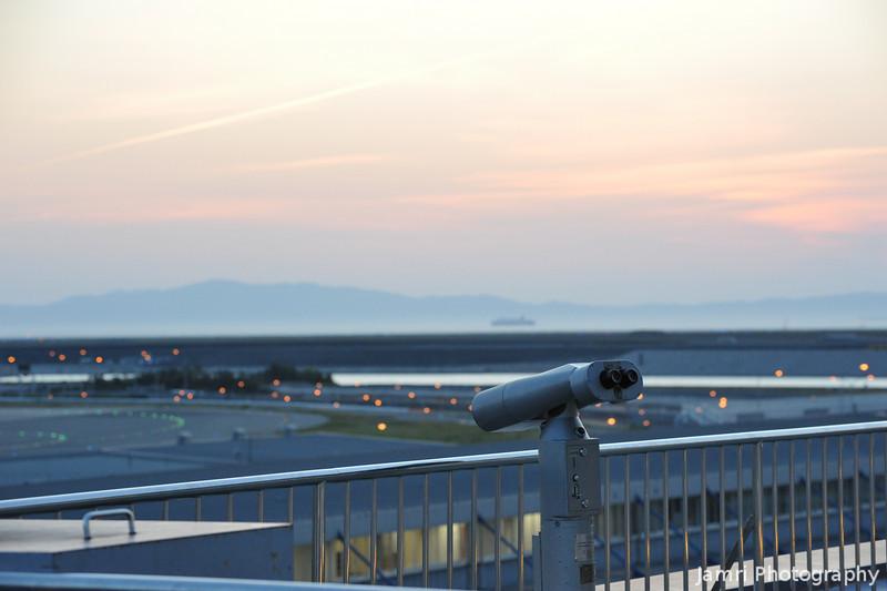 Towards the Binoculars.<br /> At Kansai Airport.