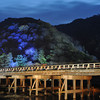 Increasing the Exposure Slightly.<br /> Togetsukyo (Moon Crossing Bridge), Arashiyama, Kyoto.<br /> Note: 2 stop split ND filter covering the bridge otherwise we'd lose the detail of the mountains which are not lit so brightly.