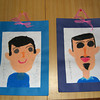 Gifts from the Students.<br /> At the end of the school year David and I were presented with these pictures of us drawn by the kindergarten students.