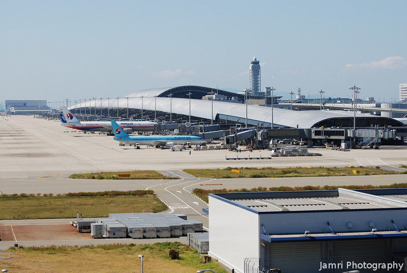 The Main Terminal Building.<br /> Of Kansai Airport, taken from the Observation Hall.