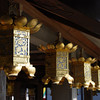 A Row of Lanterns.<br /> At Komyo-ji (a Buddhist Temple) in Nagaokakyo.