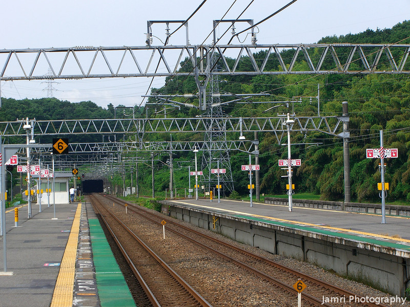 The View Towards the Tunnel.<br /> In Ogotoonsen, Shiga.