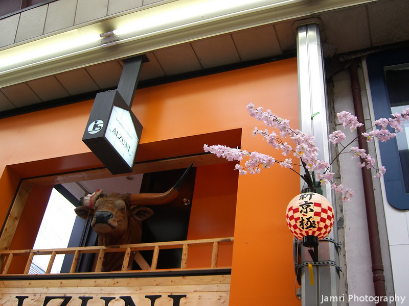 Alzuni.<br /> Showing some spring decorations celebrating the Hanami (cherry blossom viewing) Season.