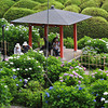 The view towards the Gazebo.<br /> In the gardens of Mimuroto-ji (a Buddhist Temple) near Uji, Kyoto.