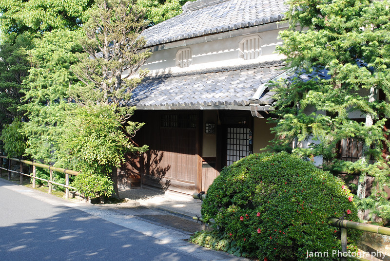 Traditional House Entrance, Nagaokakyo, Kyoto-fu, Japan.<br /> This house is near where I found the Bottle Brush.