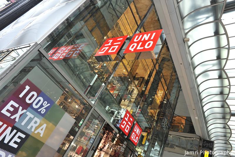 The Colours of Uniqlo.<br /> The flagship store in Shinsaibashi Osaka.