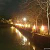 Lights along the Pond.<br /> At the Arashiyama Hanatouro in Kyoto.