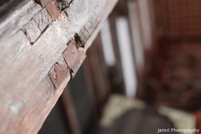 A Joint.<br /> A closer look at the carpentry of Todai-ji (Todai Temple) in Nara.