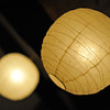 Lantern Abstract.<br /> A couple of lanterns that are on the ceiling of the common area on the second floor of Aburamu no sato (Abram's place).