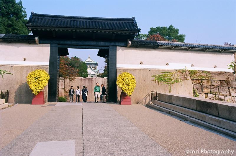 At the Inner Gateway.<br /> To Osaka Castle.<br /> Note Film Shot: Nikon F80 + 35f/2 Lens + Kodak Ektar 100