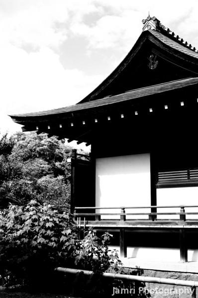 A Smaller Building in the Tenryu-ji Temple Complex.<br /> Note Film Shot: Nikon F80 + 50f/1.8 + Orange Filter + Fujifilm Neopan Acros