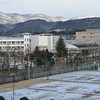 "Tennis Courts after the Snow.<br /> Photographed from an Apartment Block I've nicked named ""Fune Mansion""."