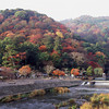 A Hill and a Little River.<br /> In Arashiyama, Kyoto.<br /> Note Film Shot: Nikon F80 + Nikkor 35 f/2 + Fujichrome Velvia