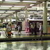 Across the Platforms.<br /> At Hankyu Umeda Station in Osaka.<br /> Can you spot Darth Vader?