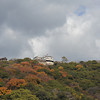 The Main Building of Matsuyama Castle on the Hill.<br /> Note in Matsuyama there was still a bit of Autumn colour on December 26! It was a warm start to winter and also they are a little bit warmer than here in Kyoto.