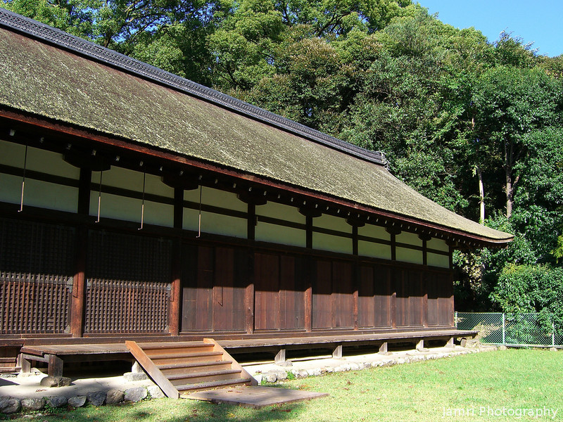 A building in the outer courts.<br /> Of Kamigamo Shrine.