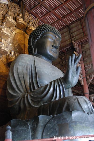 Big Buddha Side View.<br /> At Todai-ji in Nara.