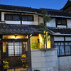 Traditional Houses at Night.<br /> Along the Old West Highway (Saigokukaido) in Nagaokakyo.