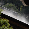 Subliming Snow.<br /> On the roof of one of the temple buildings at Nanzenji.