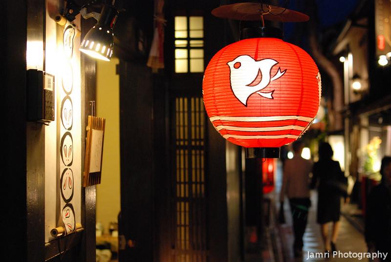 Bird Lantern.<br /> Pontocho, Kyoto.