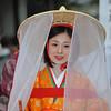 Veiled Maiden.<br /> Part of the 2011 Garasha Matsuri Parade, in Nagaokakyo.