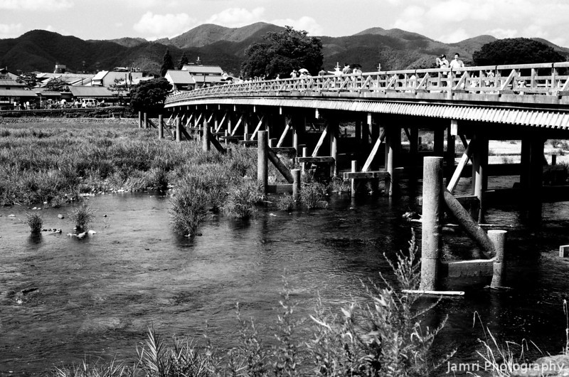 At the Big Bridge.<br /> In Arashiyama, Kyoto.<br /> Note Film Shot: Nikon F80 + 50f/1.8 + Orange Filter + Fujifilm Neopan Acros