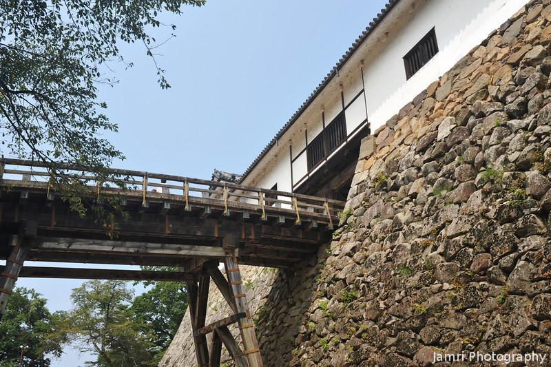 The walkway to the main castle grounds.<br /> At Hikone-jo (Hikone Castle), Hikone, Shiga.