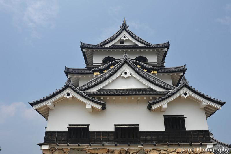 The Main Building from Below.<br /> Hikone-jo (Hikone Castle), Hikone, Shiga.