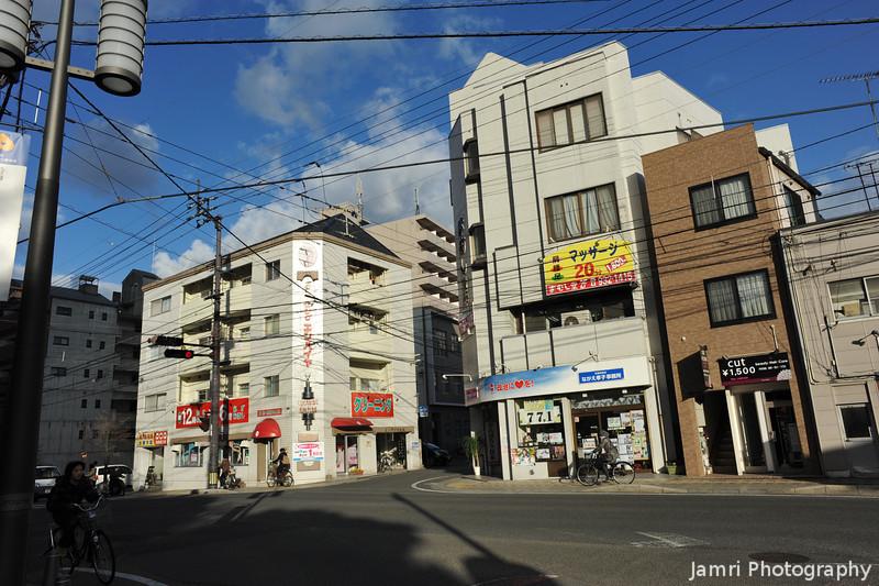 In the backstreets of Matsuyama.