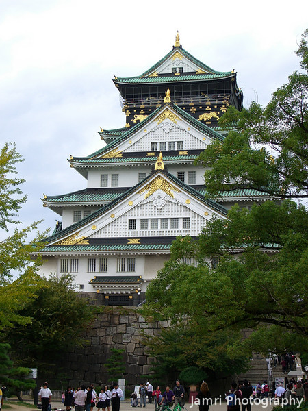Osaka Castle on a Sunday Afternoon.<br /> We were heading to the Franklin Graham Festival at the Osaka-jo Hall so on the way we stopped to show Melissa around the Castle.