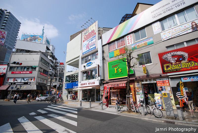 A Crossing in Amerika-mura, Osaka.