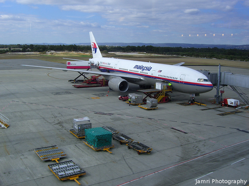 Leaving on a Jet Plane.<br /> A Malaysia Airlines B777-200, the plane that took us on the first leg of the journey from Perth to Kuala Lumpur, where we caught another Malaysia Airlines B777-200 to get to Kansai Airport.