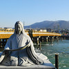"At the Murasaki Statue.<br /> In Uji, Kyoto-fu, Japan.<br /> Murasaki is the author of the classic ""The Tale of Genji"" some of the book is set in Uji."