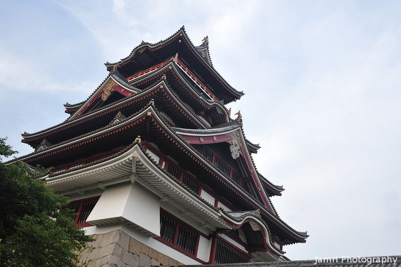 The main tower from the West Side.<br /> Of Fushimi-Momoyama-jo.<br /> In Fushimi-Momoyama, Fushimi-ku, Kyoto City, Japan.