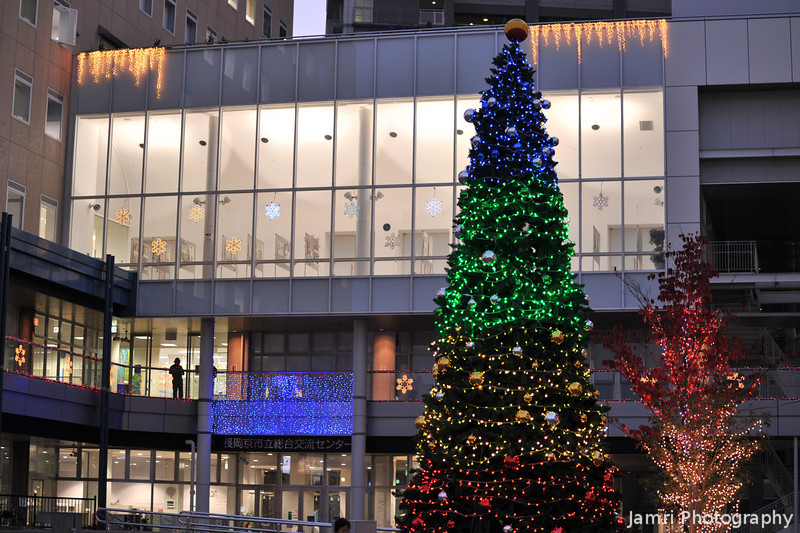 Christmas Lights at Bambio, Nagaokakyo.<br /> We hire a room at this place for English classes on Tuesday and Wednesday nights.