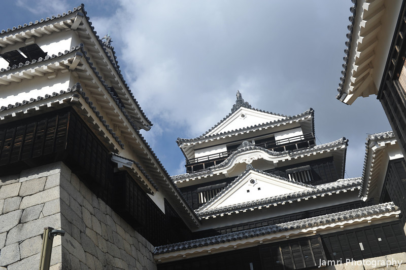 At the Entrance to the Main Castle.<br /> Matsuyama Castle.