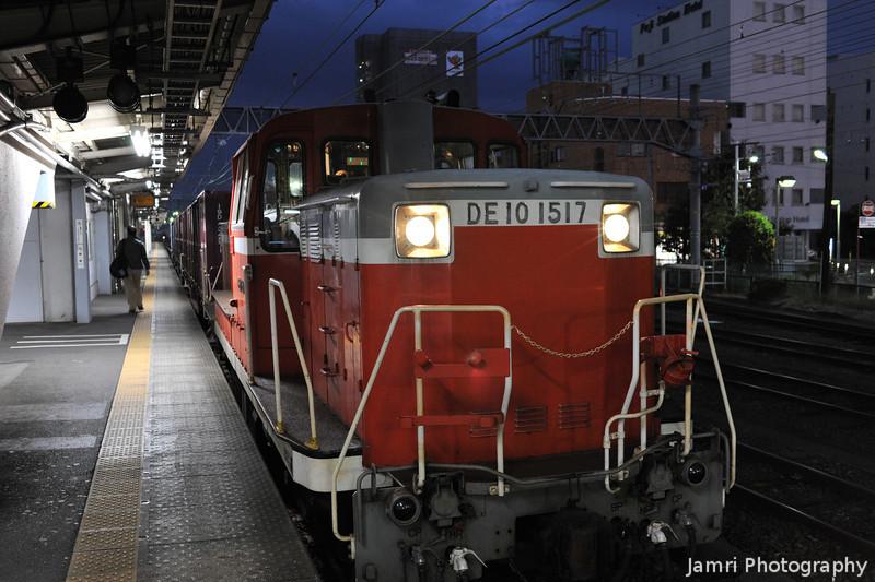 Diesel Freight Locomotive.<br /> At Fuji Station, Shizuoka Prefecture, Japan.