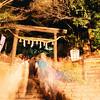 The Flow of People in to Nonomiya Shrine.<br /> During the Arashiyama Hanatouro 2010.<br /> Note: Film Shot, Nikon F80 + 24f/2.8mm + Fujicolor PRO400