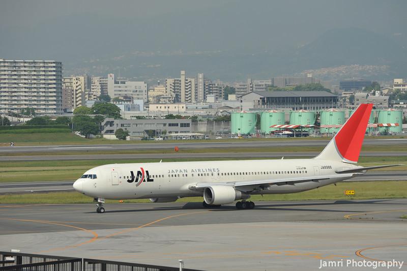 A JAL  767-300 at Itami Airport.