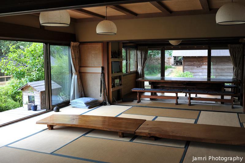 The Dining Hall.<br /> Outside to the left Bubu's (the camp dog) house can be seen.<br /> At Aburamu no sato (Abram's place) near Hida Furukawa, Gifu Prefecture, Japan.