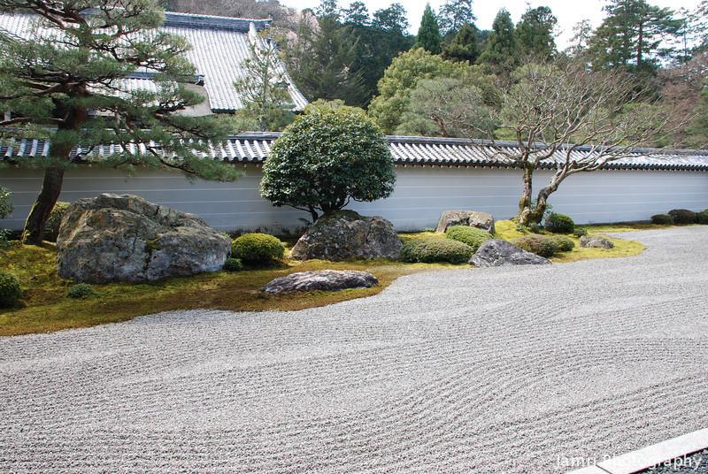 Rock Garden.<br /> At Nanzenji (a Buddhist Temple) in Keage, Kyoto.