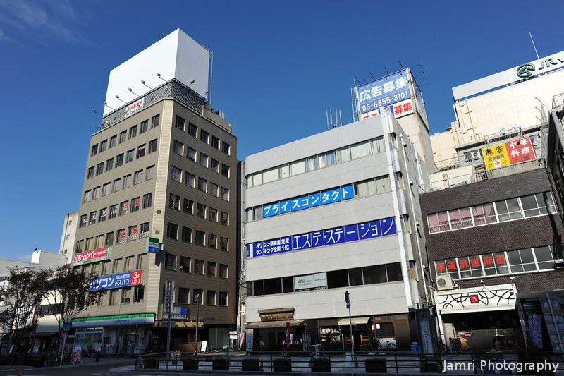 Across the road from Yodobashi Camera.