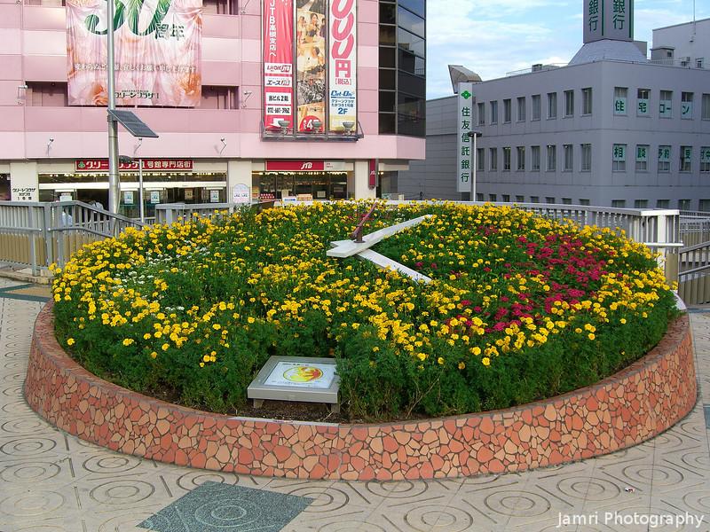 Flower Clock.<br /> In Takatsuki city, Osaka-fu.