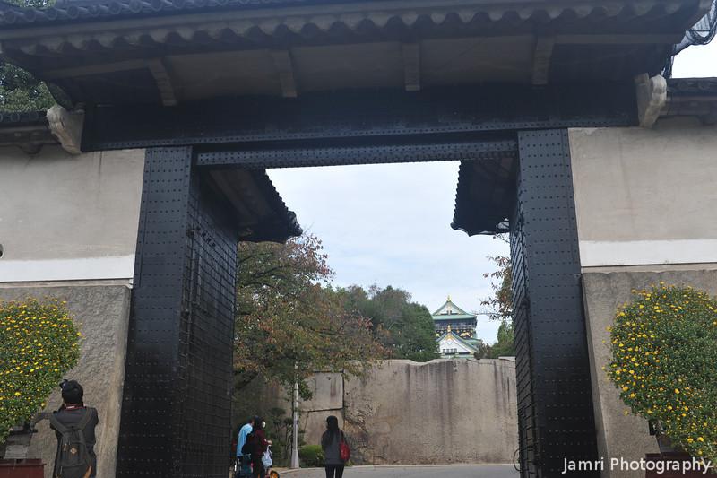Through the Gates.<br /> At Osaka Castle.